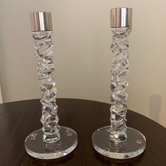 Orrefors Crystal candle holders set of 2